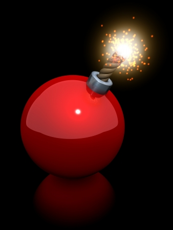 Christmas tree ball bomb, 3d rendering on white background Stock Photo - 20751926