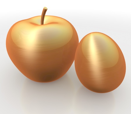 golden apple: Golden apple and egg