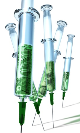 Cash infusion syringe