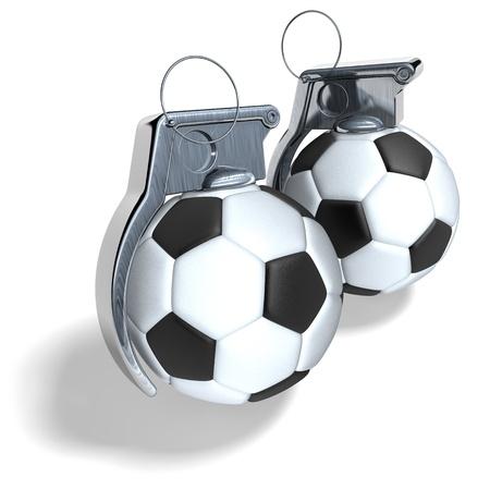 hand grenade: Hand grenade foot ball, soccer ball Stock Photo