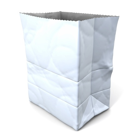 White paper bag photo