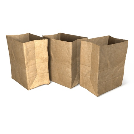 Brown paper bags photo