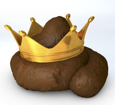 たわごと、がらくたの上に王冠のうんち