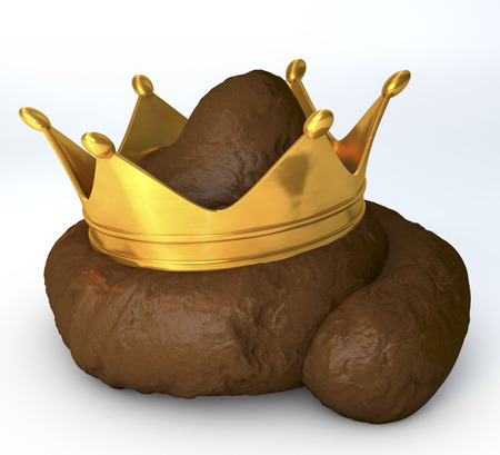 shit: Crap, shit, poo with crown on top