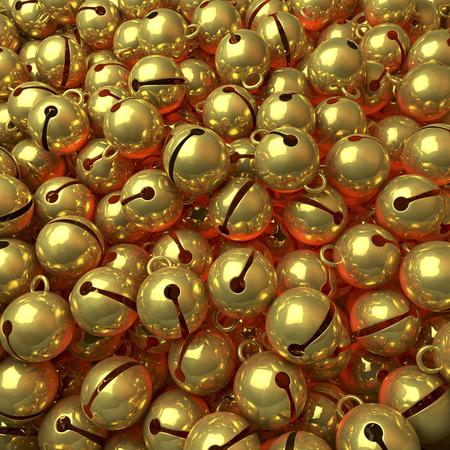プール、黄金のジングルベルのヒープ