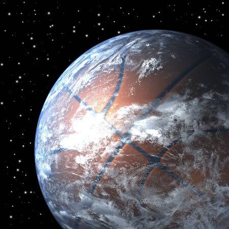 Sp からのバスケット ボールとして地球