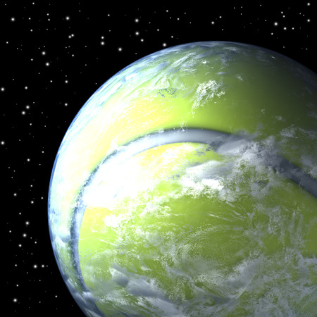 tenis: Planet earth as tennis ball from space