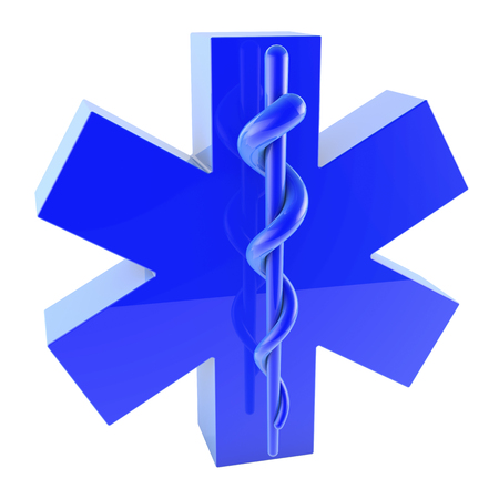 Star of life, ambulance sign, glossy, from top left photo