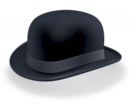 english culture: Black bowler hat Stock Photo