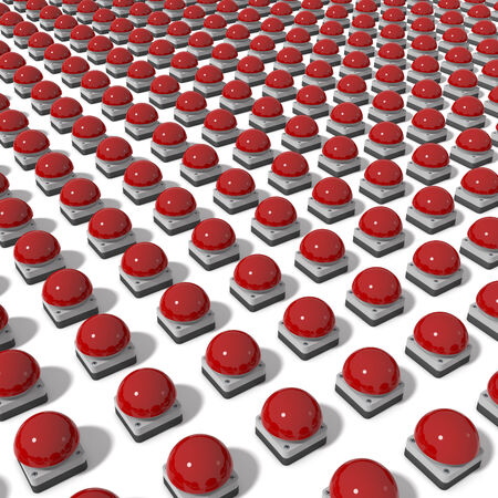 buzzer: Array of red gameshow buzzer