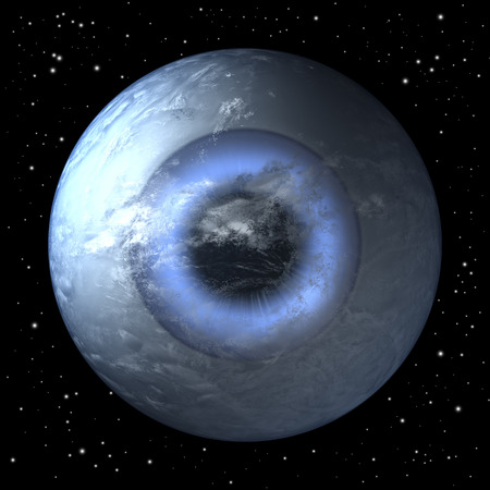eye ball: Planet earth as a human eye ball from space, centered