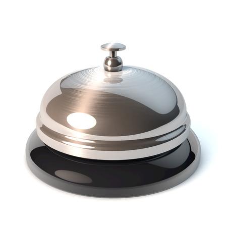 Classical desktop bell, reception bell, 3d rendering Stock Photo