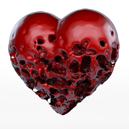 Deep red rotten heart, 3d rendering Stock Photo - 39140765