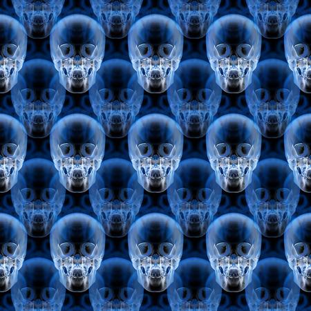 X-ray skull pattern