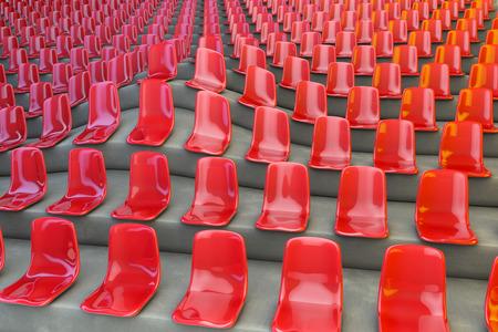 Seatings at grandstand performing an unusual la ola wave, 3d rendering