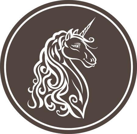 Isolated Unicorn Head illustration  イラスト・ベクター素材