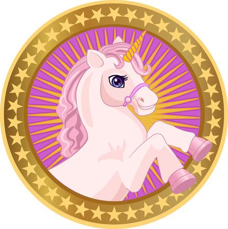 Fairy Unicorn Portrait Illustration