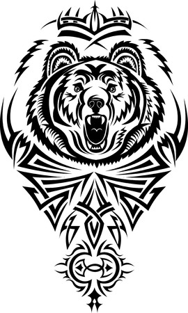 tribal park: tattoo grizzly Illustration
