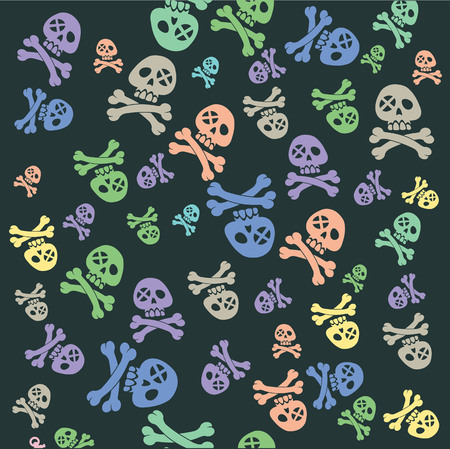battle evil: pirate pattern Illustration