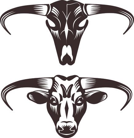 corrida: Black buffalo and Skull