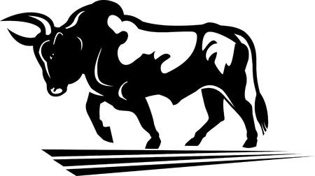 animal head: Black buffalo