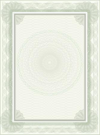 school bills: blank certificate template Illustration