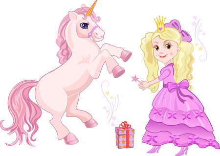 period costume: Princess and Fairy tale unicorn