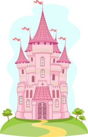 tower house: FairyTale castle. Air-Castle Illustration