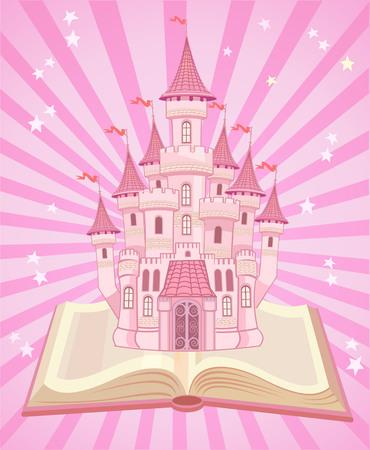 blue book: FairyTale castle. Air-Castle in Book