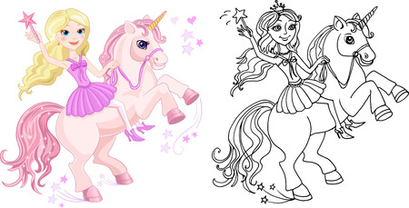 period costume: Princess Fairy tale Unicorn