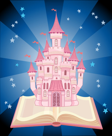 fairytale castle: FairyTale castle. Air-Castle Illustration