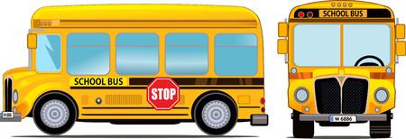 chofer de autobus: De dibujos animados Schooll autobús