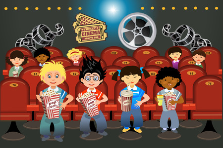 Cinema hall with people
