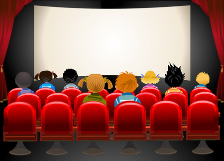 cortinas rojas: Sala de cine