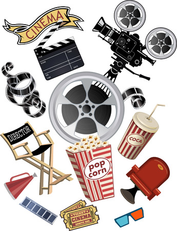 movie projector: movie projector Illustration