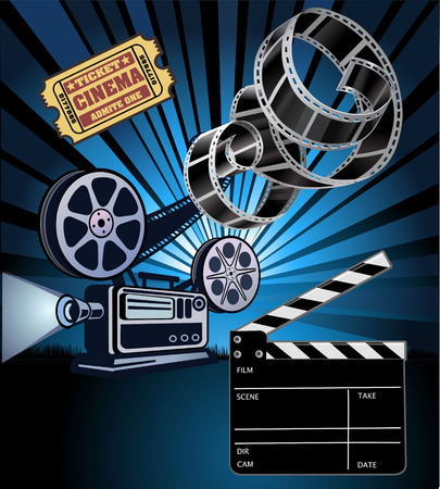 roll film: Film Reels and filmstrip Illustration
