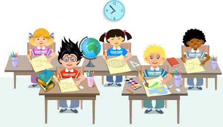 pupils of elementary school