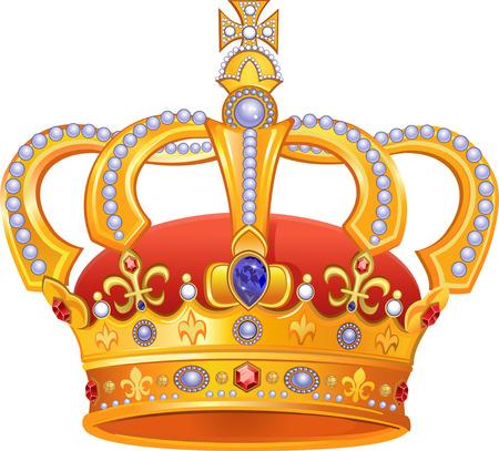 Coroa de ouro real Foto de archivo - 49650993