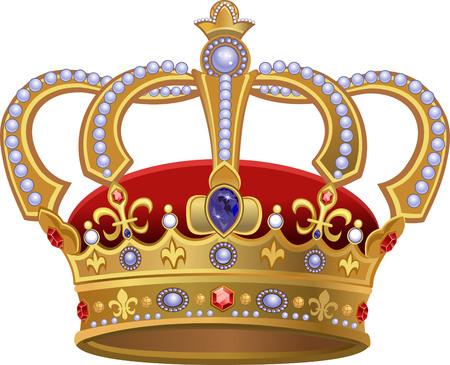 corona de reina: Real Corona de Oro
