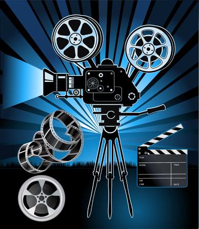 projector: movie projector Illustration