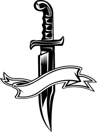 dagger knife Иллюстрация
