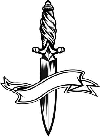 homicide: dagger knife Illustration
