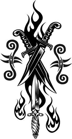 dagger: dagger knife Illustration