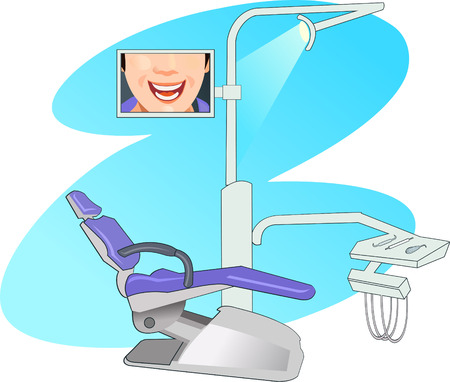 stomatology: Dentists modern working place. Dental tooth care. Orthodontic and stomatology