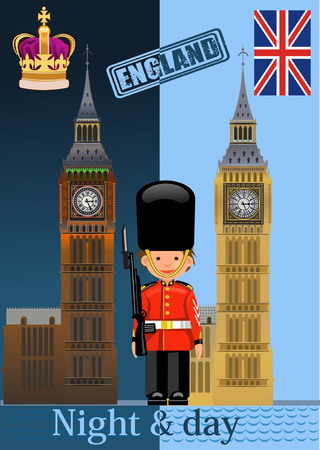 houses of parliament london: The Big Ben Illustration