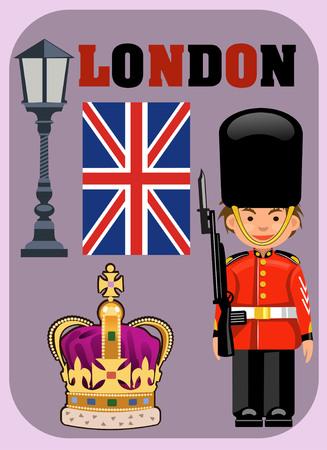 royal guard: A Royal Guard, Crown and British Flag