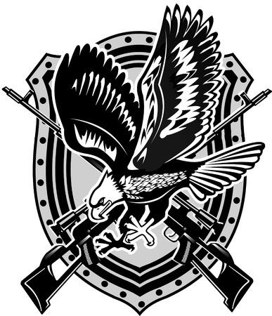 aigle: Aigle et carabine Illustration