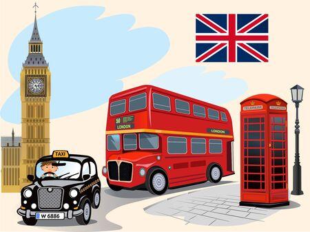 houses of parliament london: The Big Ben Illustration