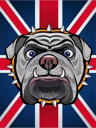 british culture: English Bulldog and British Flag