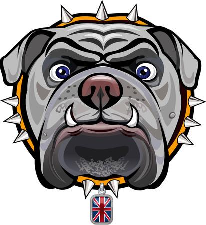 animal nose: English Bulldog and British Flag
